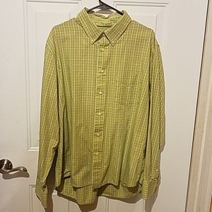 Sonoma extra large green button-down top